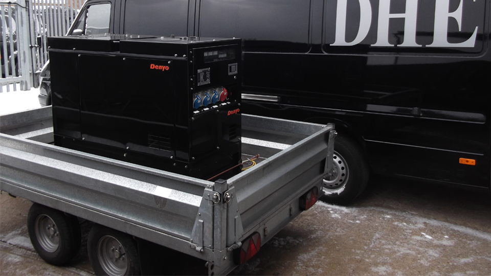 Northamptonshire Stage Hire 12.5KVA Super Silent Road Towable Diesel Generator